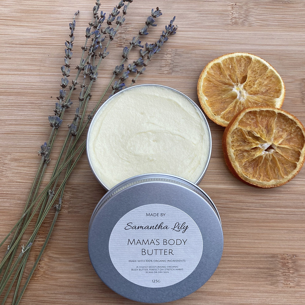 Mamas Body Butter Organic Skincare from Samantha Lily